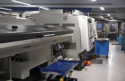 Maskinpark hos Finmekanisk Fabrik